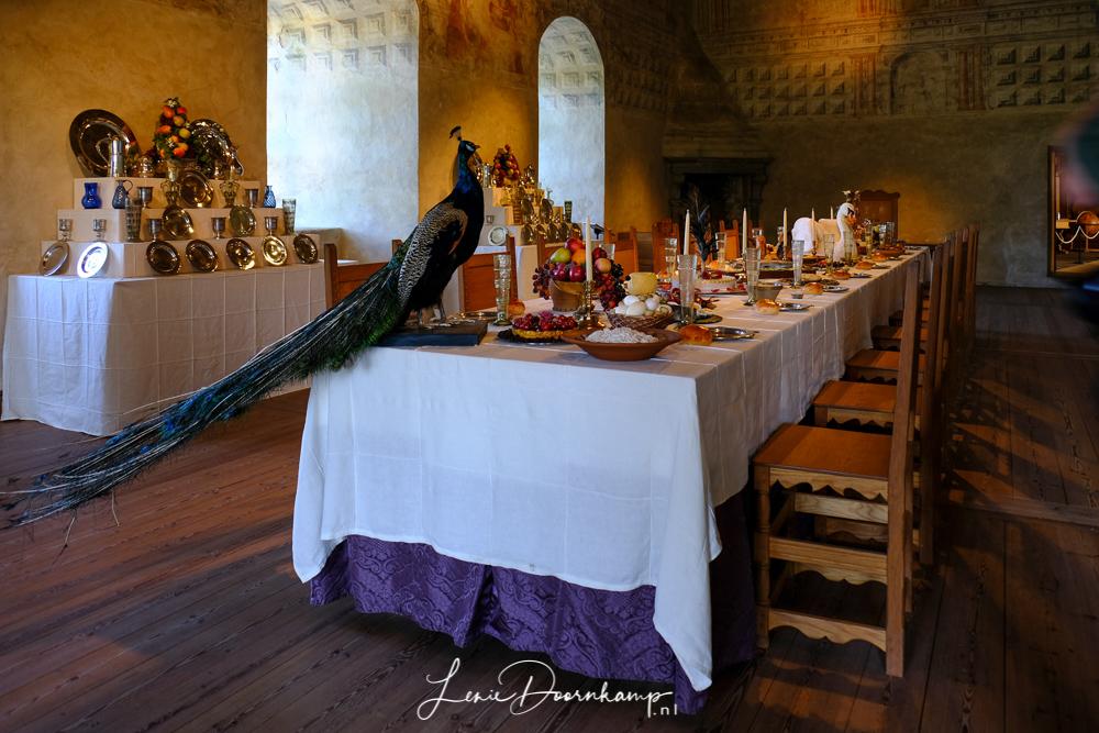 fazant op tafel